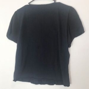 Johnny Was Tops - Johnny Was vintage classic black top